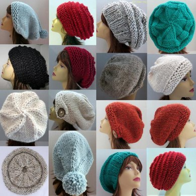 Slouch Hats with Interchangeable Sections