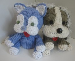 Knitkinz Cat & Dog - for Your Office