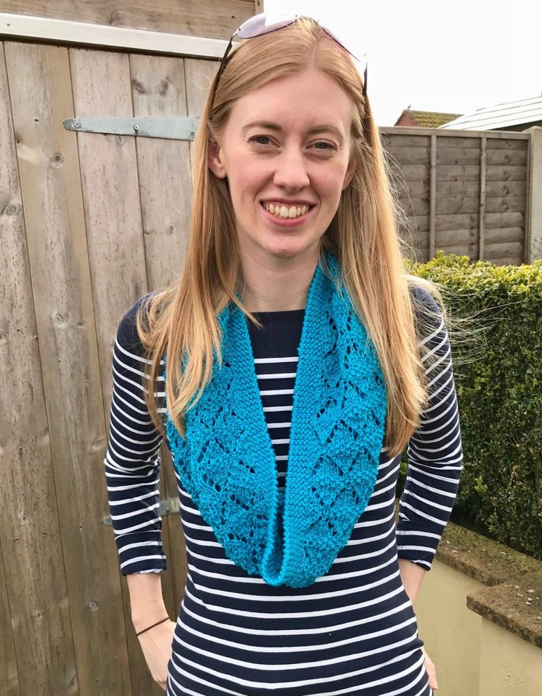 Callie Cotton Cowl in Sirdar Cotton DK Knitting pattern by Lorna Fisher