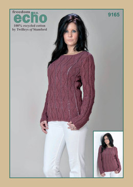 Textured Sweater in Twilleys Freedom Echo DK - 9165