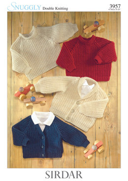 Sweaters and Cardigans in Sirdar Snuggly DK - 3957 - Downloadable PDF