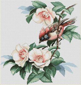 Luca-S Bird on Branch Cross Stitch Kit