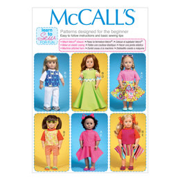 "McCall's Clothes For 18"" Dolls M7106 - Sewing Pattern"