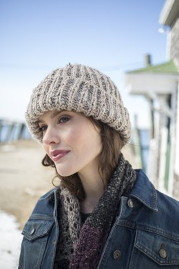 Donnely Hat in Berroco Inca Tweed - 346-3