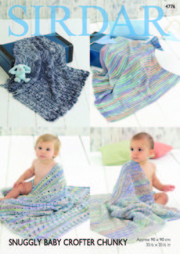 Blankets in Sirdar Snuggly Baby Crofter Chunky - 4776 - Downloadable PDF