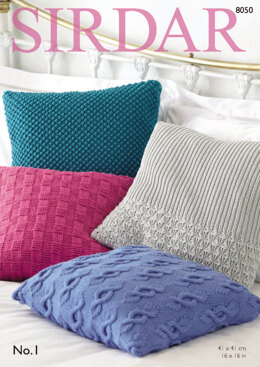Cushion Covers in Sirdar No.1 - 8050 - Downloadable PDF