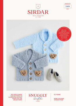 Cardigans in Sirdar Snuggly Snowflake Chunky 50g - 5404 - Leaflet