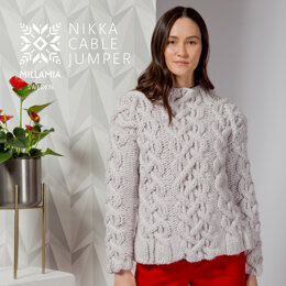 Nikka Cable Jumper - Sweater Knitting Pattern For Women in MillaMia Naturally Soft Super Chunky by MillaMia