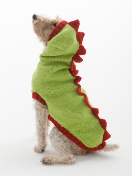 The Dragon Slayer Dog Sweater in Lion Brand Vanna's Choice