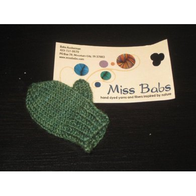 10 yards sample ~ Micro Mitten Ornament