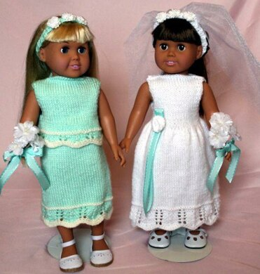 June Country Wedding - Knitting Patterns fit American Girl and other 18-Inch Dolls