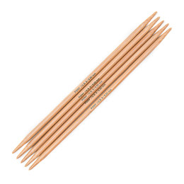 Pony Bamboo Double Point Needles 20cm (Set of 5)