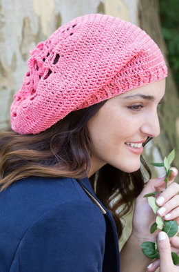 Summer Comfort Beanie in Aunt Lydia's Classic Crochet Thread Size 10 Solids - LC4888 - Downloadable PDF