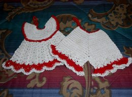Vintage Style Dress and Bloomers Potholders