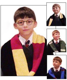 Harry Potter Wizard Scarf in Lion Brand Wool-Ease - 50379
