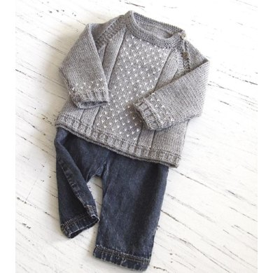 baby round neck side opening sweater knitting pattern by. Black Bedroom Furniture Sets. Home Design Ideas