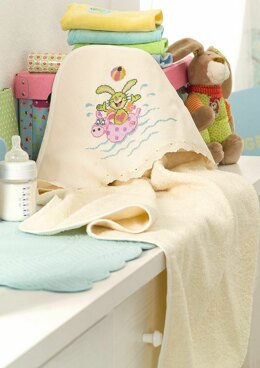 Friends Forever - Bathtowel with Hood in Anchor - Downloadable PDF