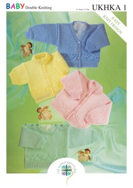 Cardigans and Sweaters in King Cole Baby DK - UKHKA1pdf - Downloadable PDF