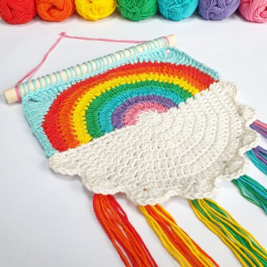 Rainbow Rounds Wall Hanging