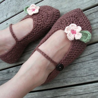 Ladies Boutique Mary Jane Slippers