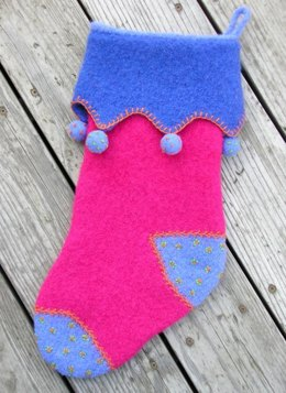 Felted Victorian Holiday Stocking