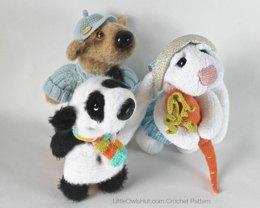 056 3 Friends: Rabbit, Bear, Panda toys