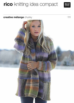 Shawl Collared Cardigan in Rico Creative Melange Chunky - 111