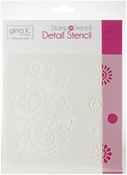 "Therm O Web Gina K Designs Stencil 6""X6"" - Crazy Daisy"