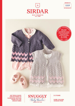 Babies Coats in Sirdar Snuggly Baby Bamboo DK - 5359 - Leaflet