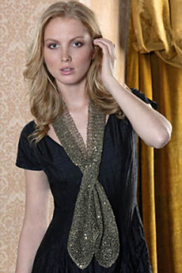 Kathleen 1-Ball Scarf in S. Charles Collezione Crystal