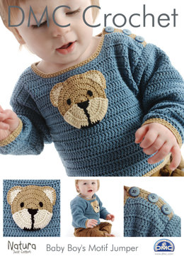 Baby Boy's Motif Jumper in DMC Natura Just Cotton - 15094L/2