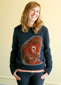 Squirrely Intarsia Pullover in Berroco Peruvia Quick
