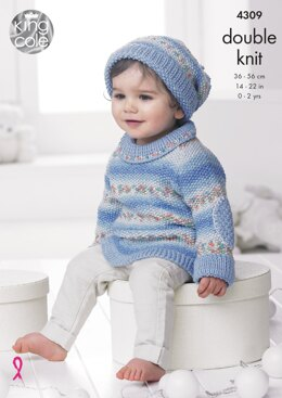 Baby Set in King Cole DK - 4309 - Downloadable PDF