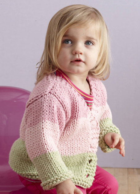Fairy Tale Cardi In Lion Brand Baby S First L0008