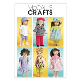 McCall's Doll Clothes For 18 (46cm) Doll M6137 - Paper Pattern Size One Size Only