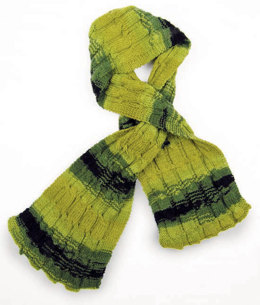 Reversible Cables Scarf in Knit One Crochet Too Ty-Dy Socks - 1780