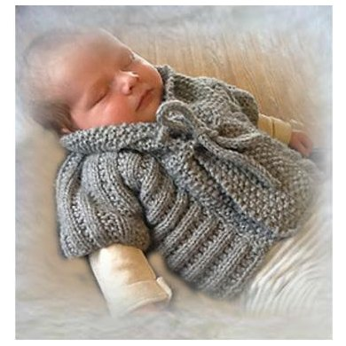 Quick Knit Baby Vest with Shawl Collar
