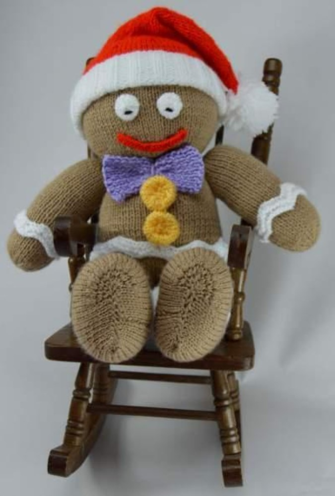 Gingerbread Man Jumper Knitting Pattern : Gingerbread Man Knitting pattern by Knitting by Post