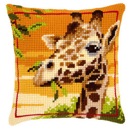Vervaco Giraffe Cushion Front Cross Stitch Kit