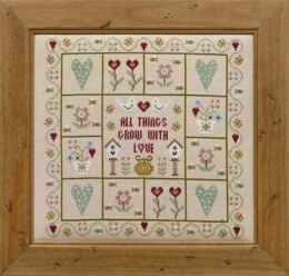 Historical Sampler Company All Things Grow with Love Cross Stitch Kit