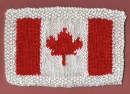 Canadian Flag Dishcloth