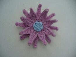 CROCHET 3D FLOWER BROOCH