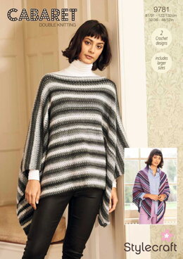 Crochet Poncho and Shawl in Stylecraft Cabaret - 9781 - Downloadable PDF
