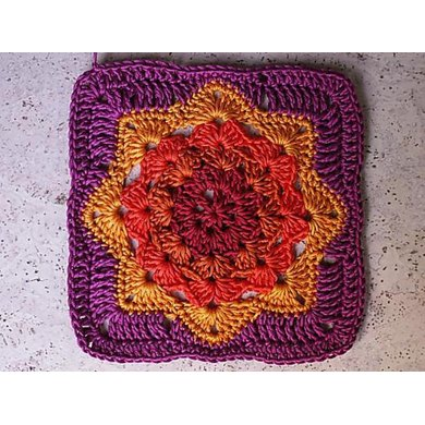 Round Ripple Afghan Square