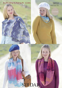 Shawls and Hat in Sirdar Montana DK - 9853