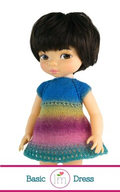 Basic Dress for 16 inch Animators Dolls, Doll Clothes  Knitting Pattern