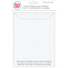 "Avery Elle Stamp & Die Storage Pockets 50/Pkg - Large 5.5""X7.375"""
