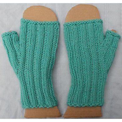 Super Simple Ribbed Mitts