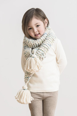 Frosting Fringe Scarf in Spud & Chloe Outer and Stripey Fine - 201722