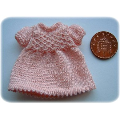 1:12th scale smocked dress